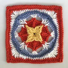 Designs by Pam Knighton-Haener Crochet Squares Afghan, Crochet Square Patterns, Granny Square Blanket, Crochet Blocks, Granny Squares, Crochet Motif, Free Crochet, Crochet Granny, Crochet Stars