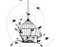 Popular items for bird in a birdcage on Etsy