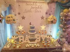 Twinkle Little Star Baby Shower | CatchMyParty.com