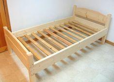 Самодельная односпальная кровать (чертежи, для матраса 90х190 см)