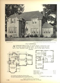 The CASWELL   Home Builders Catalog: Plans Of All Types Of Small Homes By  Home · VINTAGE HOUSE ...