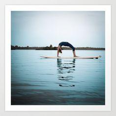 SUP Yoga Art Print by Isaloha Photography - $22.88