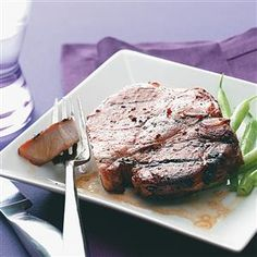 Simple Marinated Grilled Pork Chops Recipe -This marinade is so simple that I use it on all kinds of meat. For a more robust flavor, let the meat marinate in the refrigerator overnight. —Lori Daniels, Beverly, West Virginia