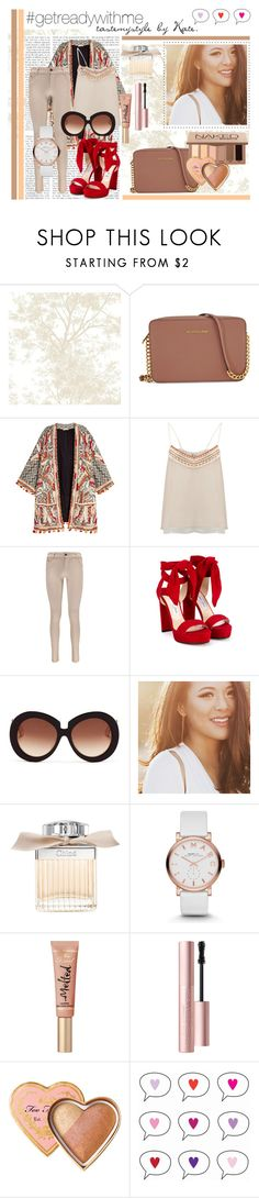 """""""#55"""" by tastemystyle ❤ liked on Polyvore featuring Michael Kors, H&M, BLANK, Boohoo, Jimmy Choo, Valentino, Chloé, Marc by Marc Jacobs and Too Faced Cosmetics"""