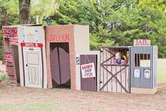DIY cardboard photo-booth ideas_western kids party                                                                                                                                                                                 More