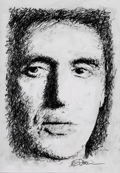 Titolo: Al Pacino Tecnica: Grafite moooolto zigzagata Tempo d'esecuzione: 11 minuti #portrait #art #AlPacino