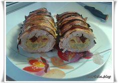 Kuřecí roláda v srnčím hřbetu... Sushi, Food And Drink, Keto, Ethnic Recipes, Lunch Ideas, Minis, Sushi Rolls