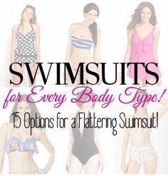 Swimsuits for every body type -- easy way to find your most flattering look.