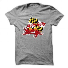 Baltimore Maryland Crab Flag - #cheap shirts #men t shirts. BUY NOW =>…