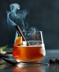 A holiday tequila drink with winter grenadine featuring all spice, cloves, cinnamon and anise.