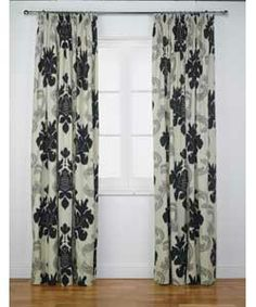 Inspire Ottilie Damask Pencil Pleat Curtains - 117x183cm.