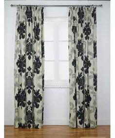 Inspire Ottilie Damask Pencil Pleat Curtains - 117x183cm.