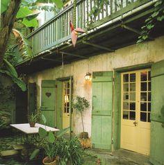 French Quarter courtyard, New Orleans. http://www.richardsextonstudio.com/elegance.html