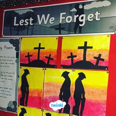Anzac Day art display of a silhouette soldier! Use this great FREE banner to display your Anzac Day artwork! Remembrance Day Activities, Remembrance Day Poppy, Soldier Silhouette, Silhouette Art, Primary School Art, Elementary Art, School Displays, Classroom Displays, Poppy Craft For Kids
