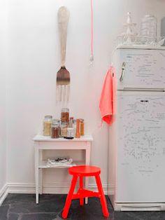 neon orange Neon Colors, Bright Colours, Norwegian House, Deco Rose, Creative Home, Elle Decor, Scandinavian Home, Home Kitchens, My Dream Home