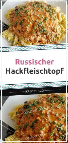 Russischer Hackfleischtopf - 1k Rezepte Cupcake Recipes, Snack Recipes, Expensive Taste, Pumpkin Spice, Eat Cake, Macaroni And Cheese, Cravings, Healthy Snacks, Good Food