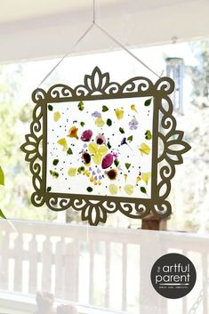 Make an Easy Spring Flower Suncatcher with Contact Paper