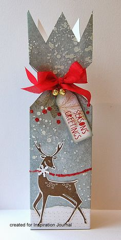Christmas cracker box tutorial | by Kath's blog - #christmas #gift #wrapping