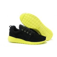 Nike Roshe Run Leder Schwarz Grün Männer