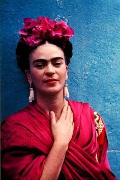 Frida Kahlo...Brilliant artistic and one of the strongest women I don't know!  Gosh...I wish I could have! If you don't know her...let me help you with that rock you've been living under. It's time...