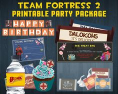 Team Fortress 2 Printable Party Package by 7GFX on Etsy