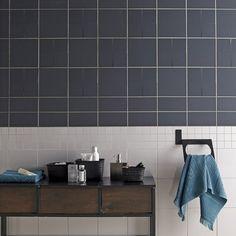 Faïence mur gris gris, Astuce l.10 x L.20 cm