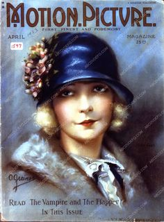 Lillian Gish Motion Picture magazine cover 35m-4517