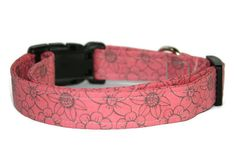 Coral Floral Dog Collar by ALeashACollar on Etsy Handmade Dog Collars, Handmade Gifts, Coral, Belt, Trending Outfits, Unique Jewelry, Dogs, Accessories, Vintage