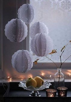 These would be beautiful with tissue pom poms!