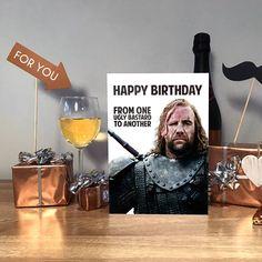 Game of Thrones Game of Thrones card The Hound #birthdaycard #funnybirthdaycard #handmadecard #got #gameofthrones #thehound