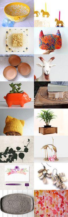 497 Feel the power! by Noémi Imola Magyar on Etsy-- #etsy #treasury #yellow #basket #bowl #summer #sunshine #sunny #orange Pinned with TreasuryPin.com
