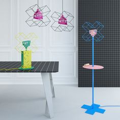 Suprematist Lamps - Lamps explore 2D ideas and three dimensional realities...