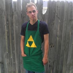 green & gold triforce apron #TribePride #WMAlumni #WMAA