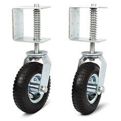 Set of 2 Nordstrand Gate Wheel Casters Kit with Spring 8-inch - Pneumatic Tire with Suspension - 360 Degree Swivel - 220lb Loaded Capacity, 2016 Amazon Hot New Releases Material Handling Products #Industrial