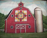 This reminds me of all the barns up by camp with quilt squares painted on them