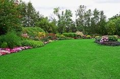Green Lawn in Landscaped Formal Garden stock photo Landscaping Supplies, Landscaping Company, Landscaping Melbourne, Acreage Landscaping, Backyard Landscaping, Landscaping Ideas, Decoration Entree, Lawn Care Tips, Green Lawn