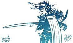 Final Fantasy I : #FanArtZ : #ClipStudioPaint  #Cintiq #: #finalfantasy #final #fantasy #yoshitakaamano #warrioroflight #rpg  #illustration #draw #sketch #drawing #art #artistsoninstagram #dailysketch  #cute #adorable #fanart #blackandwhite  #blancoynegro #blue  #digital #digitalpainting #digitalart