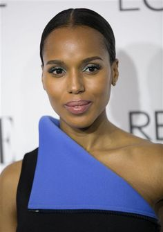 Kerry Washington rocked turquoise eyeshadow at Elle's Women in Hollywood Celebration in Beverly Hills, Calif., on Oct. 21, 2014.