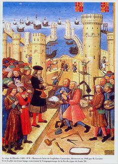 Rhodes, réception des compagnons charpentiers et tailleurs