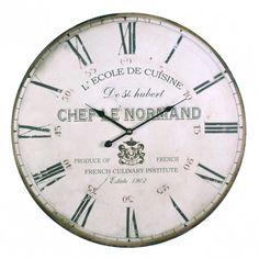 Huge 58cm Wall Clock - 'Ecole de Cuisine'.