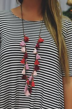 Siren Song Necklace - Fushia