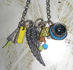 Industrial Chic Charm Necklace  Featured In Jewelry Affaire 2012. $65.00, via Etsy.