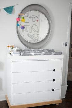 Real Room Tour: Sebastian's Special Space Changing Tables, Room Tour, Animal Wallpaper, Kids Room, Dresser, Vanity, Space, Inspiration, Furniture