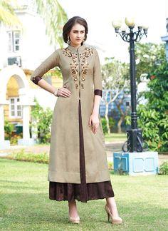 #Readymade #Tan #Brown A #Line #Style #Shalwar #Kameez #nikvik  #usa  #australia  #pakistanisuit #wedding #canada #wedding #sale