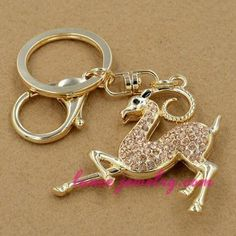 Lovely goat pendant decoration key chain