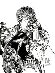 Barry Windsor-Smith's cover for Grifter #1, back when Wildstorm was still part of Image comics.