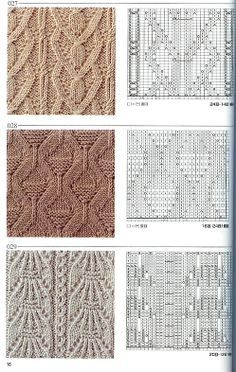 I must learn to follow a knitting chart...this will be my homework page!