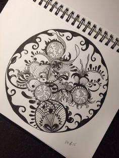 Just drawing #zentangle #art #design #illustration #pattern #drawing #doodle