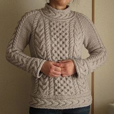 #2 Alpaca Honeycomb Aran Sweater by Yoko Hatta (風工房)