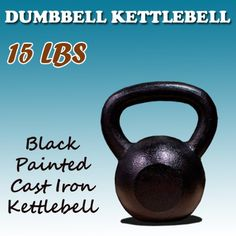 New MTN 15 Lbs Solid Cast Iron Kettlebells Weight Dumbbells Kettlebell * More info could be found at the affiliate link Amazon.com on image.